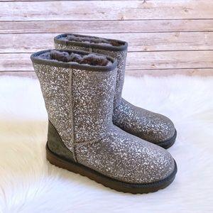UGG Classic Short II Foil Glam Boots
